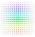 credit card shape halftone spectrum pattern vector image vector image