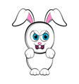 cute angry easter bunny vector image