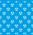 danger nuclear pattern seamless blue vector image vector image