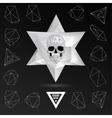 Dark Graveyard Background vector image vector image