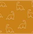 dinosaur brachiosaurus pattern seamless vector image
