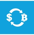 Dollar-bitcoin exchange icon vector image vector image