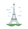 eiffel tower structure and nice clouds vector image vector image