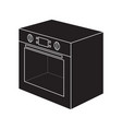 electric oven icon vector image vector image