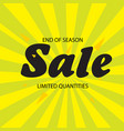 end of season sale limited quantities yellow green vector image