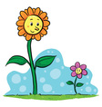Flower Friends vector image