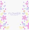 flower ornament backgroud concept vector image vector image