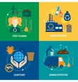 Garbage icons composition vector image vector image