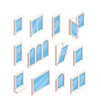 glass window frames open and closed room windows vector image