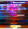 Glitched abstract background made of vector image vector image