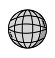 grayscale global digital network social connection vector image vector image