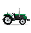green isolated tractor vector image vector image