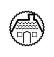 house real estate tag vector image vector image