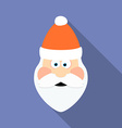 Icon of Santa Claus Flat style vector image vector image