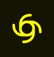 initial letter g g4 4g or number 69 and 96 logo vector image vector image