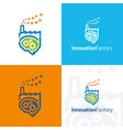 innovation factory icon and logo vector image vector image