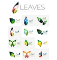 Leaf logo set vector image