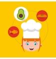 little chef kids menu vector image vector image