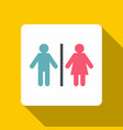 male and female toilet sign icon flat style vector image
