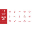 measurement icons vector image vector image