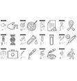 Medicine line icon set vector image vector image