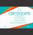 modern certificate or diploma template 5 vector image vector image