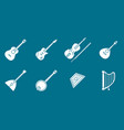 music instruments icons set 02 vector image vector image