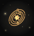 neon solar system icon in thin line style vector image vector image