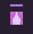night window flat icon vector image