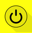 on off switch sign black icon with flat style vector image vector image