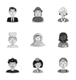People of different profession set icons in vector image vector image
