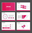 Pink presentation templates Infographic design set vector image