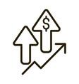 profit arrows money economy financial business vector image