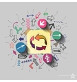 Recycling arrows and arrows web icons set Collage vector image vector image