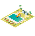resort swimming pool isometric vector image vector image