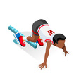 Running Starting Line Kids 2016 Sports Isometric vector image vector image