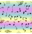 seamless music notes pattern vector image vector image