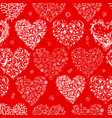 seamless pattern with valentine hearts for your vector image vector image