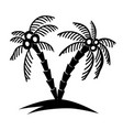 set of hand drawn palm tree design element for vector image