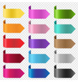 silk colorful ribbon set isolated transparent vector image