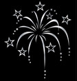silver white stylized fireworks vector image