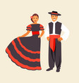 spanish costume vector image