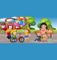student at school playground vector image