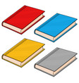 textbooks colored doodle style vector image