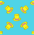 top hat seamless pattern vector image vector image