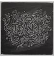 Travel Summer hand lettering On Chalkboard vector image
