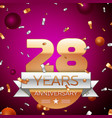 Twenty eight years anniversary celebration design