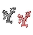 vintage isolated capital letter y vector image vector image