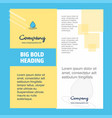 water drop company brochure title page design vector image vector image