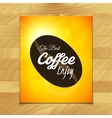Menu template for restaurant the best coffee enjoy vector image